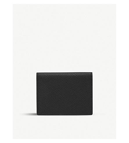 SMYTHSON Panama grained leather travel card holder (Black