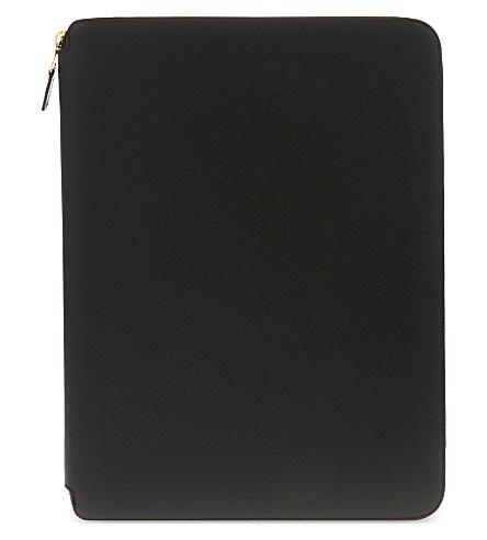 SMYTHSON 巴拿马皮革 A4 写文件夹 25厘米 (黑色