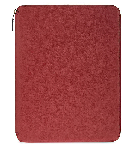 SMYTHSON Panama A4 leather writing folder 33cm