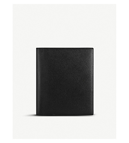 SMYTHSON Panama A5 grained-leather writing folder (Black