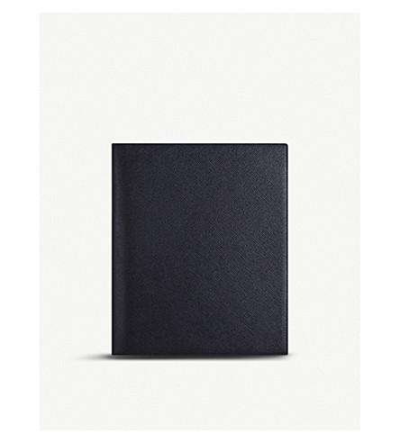 SMYTHSON Panama A5 grained-leather writing folder (Navy