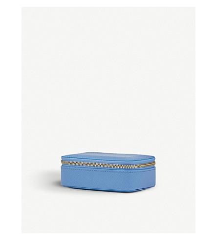 SMYTHSON Panama grained-leather trinket case (Nile+blue