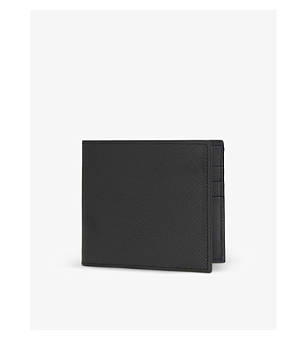 SMYTHSON Panama leather card wallet