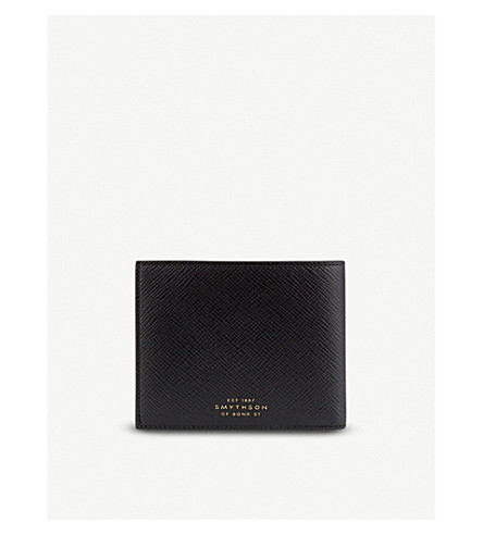 SMYTHSON Panama grained-leather i-d pocket wallet (Black
