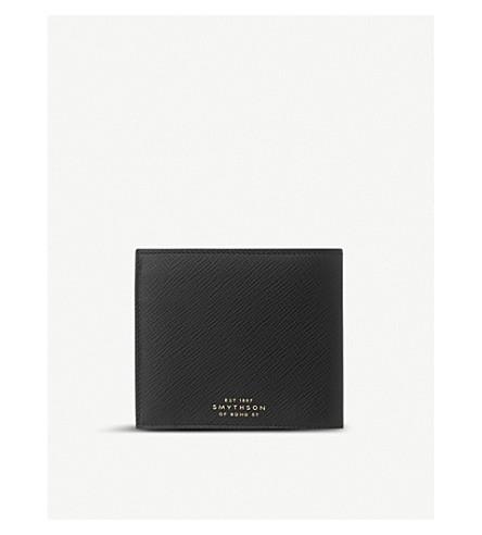 SMYTHSON Panama leather wallet (Black