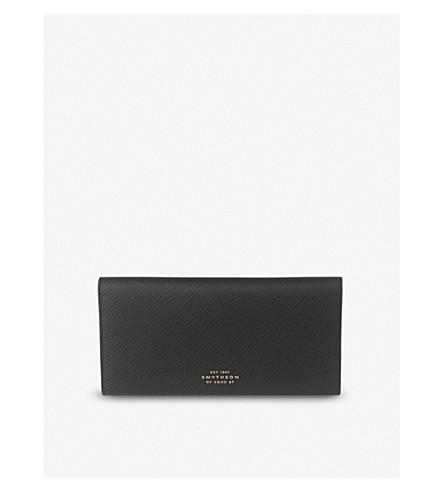 SMYTHSON Panama leather coat wallet (Black