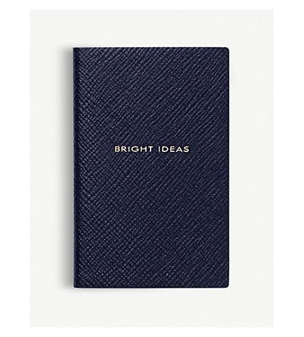 SMYTHSON Bright Ideas leather wafer notebook (Navy