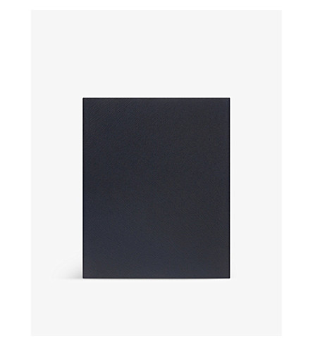 SMYTHSON 波托贝洛皮革笔记本 25厘米 (Bluenavyheritage