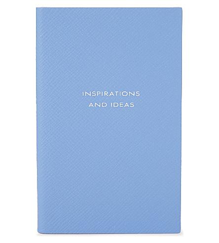 SMYTHSON 巴拿马皮笔记本 14cm (Bluenileheritage