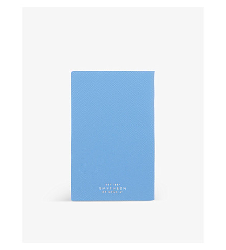 SMYTHSON Panama leather notebook 14cm (Bluenileheritage