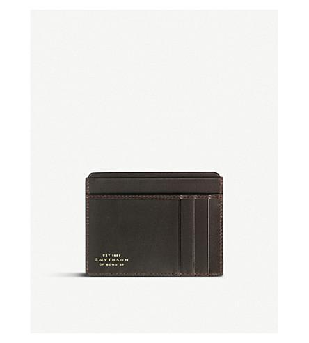 SMYTHSON Mara leather card holder (Brown
