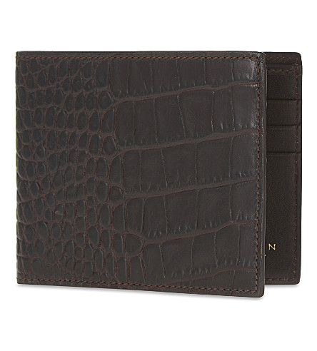 SMYTHSON Mara leather card wallet