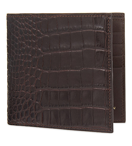 SMYTHSON Mara leather wallet (Brown