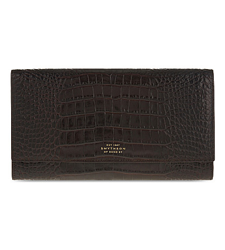 SMYTHSON Mara Marshall leather travel wallet (Brown