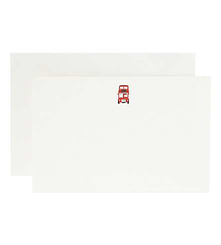SMYTHSON London bus correspondence cards 10 pack