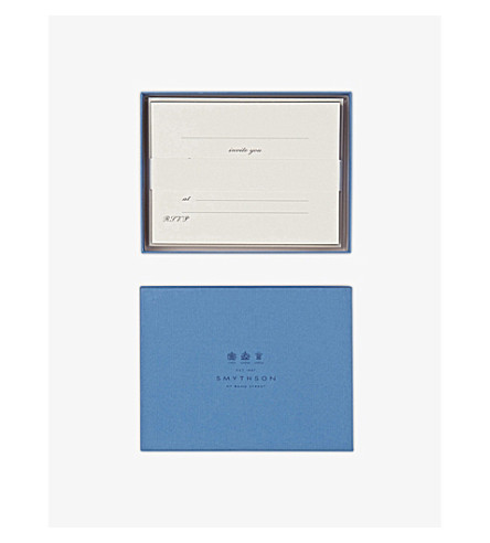 SMYTHSON Invitation matte cards (White