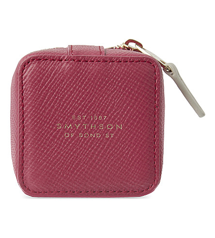 SMYTHSON Panama small leather trinket case