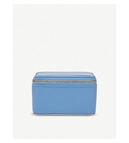 SMYTHSON Panama medium leather trinket case (Nile+blue