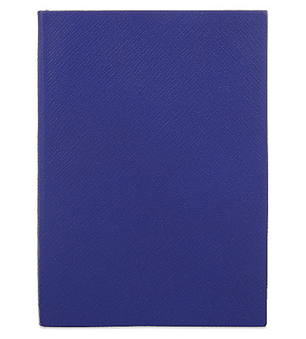 SMYTHSON Soho leather notebook 20cm (Cobalt