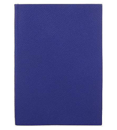 SMYTHSON Soho 皮革笔记本 20厘米 (钴