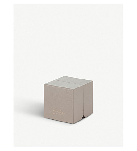 SMYTHSON Grosvenor leather ring box (Dove+grey