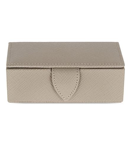 SMYTHSON 巴拿马皮革袖扣框 11 厘米