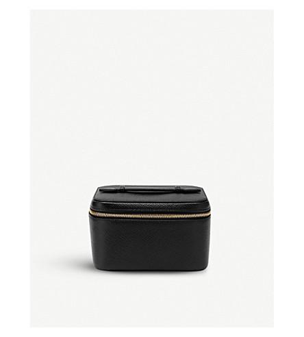 SMYTHSON Panama mini leather jewellery case (Black