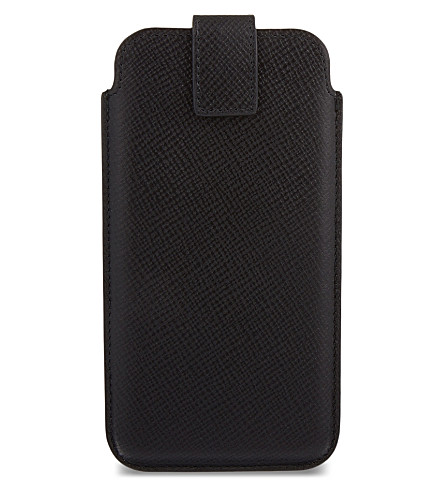 SMYTHSON Panama leather iPhone 6 case (Black