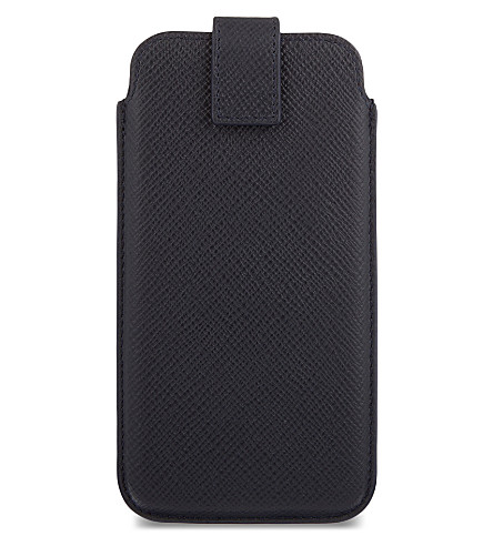 SMYTHSON Panama leather iPhone 6/6s/7 case (Navy