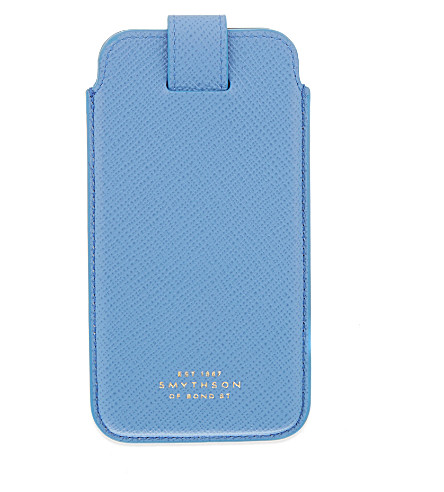 SMYTHSON Panama iPhone 6 case (Nile+blue