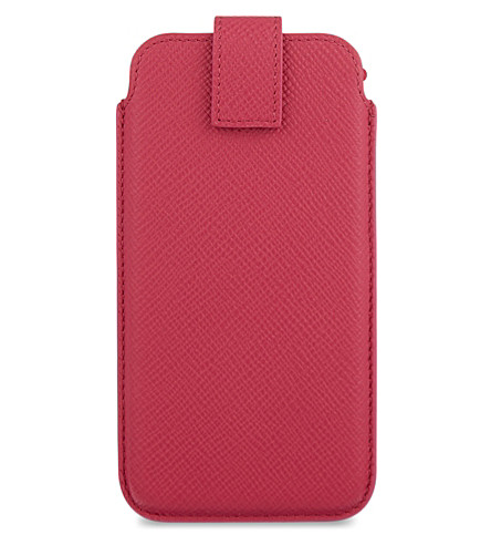SMYTHSON Panama leather iPhone 6 case (Fuchsia