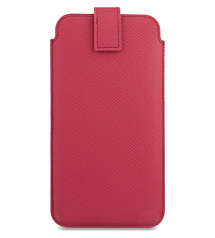 SMYTHSON Panama leather iPhone 6+/7/Samsung Galaxy S6 Edge Plus case (Fuchsia