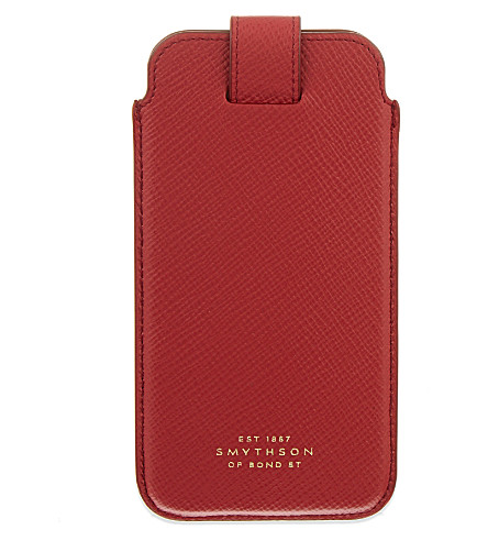 SMYTHSON Panama leather iPhone 6/6s/7 case (Red