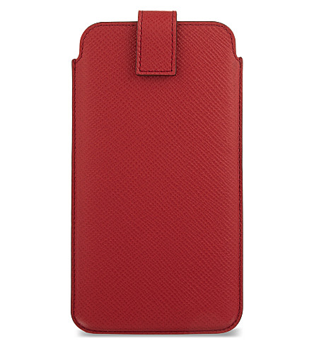SMYTHSON Panama leather iPhone 6+/7+/Samsung Galaxy S6 Edge Plus case (Red