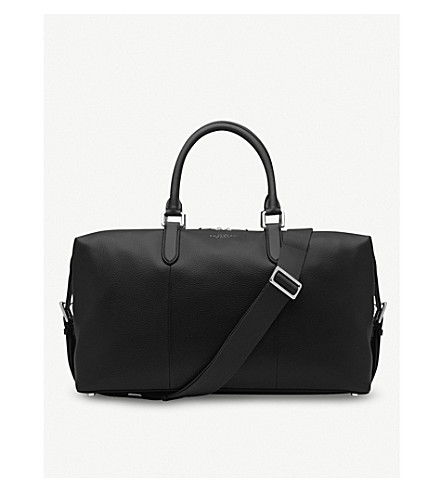 SMYTHSON Burlington leather holdall (Black