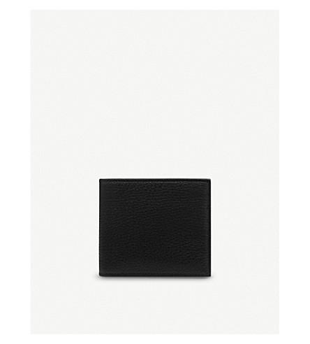 SMYTHSON Burlington six card leather wallet (Black
