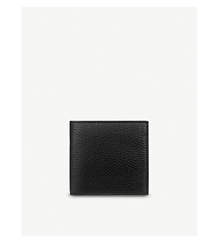 SMYTHSON Burlington 8 card leather wallet (Black