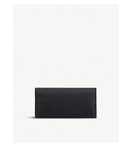SMYTHSON Burlington slim leather coat wallet (Black