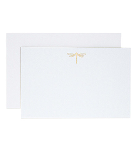 SMYTHSON Dragonfly correspondence cards 10 pack