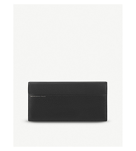 SMYTHSON Burlington slim leather travel wallet (Black
