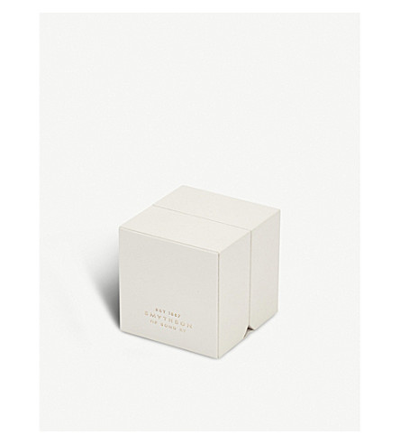 SMYTHSON Grosvenor leather ring box (Chalk