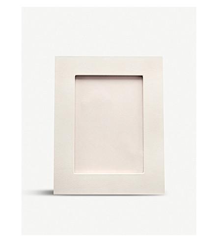 SMYTHSON Grosvenor leather photo frame 4x6