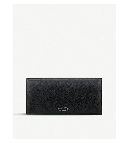 SMYTHSON Burlington slim leather coat wallet with coin pocket (Black