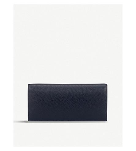 SMYTHSON Burlington slim leather coat wallet with coin pocket (Navy