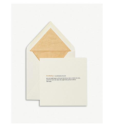 SMYTHSON Birthday Expressions Card (White