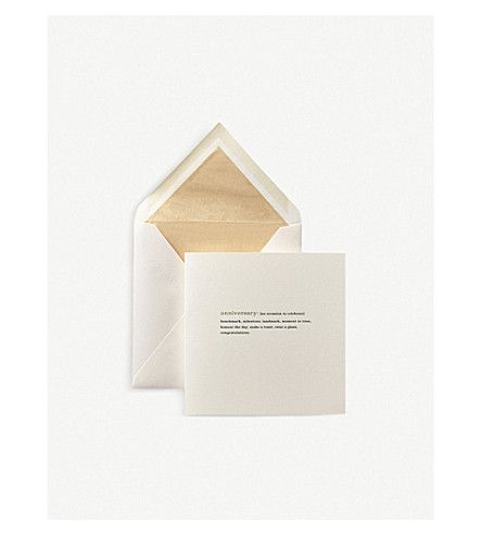 SMYTHSON Happy Anniversary Expressions greeting card (White