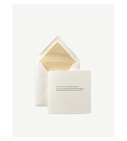 SMYTHSON Thank You Expressions Card (White
