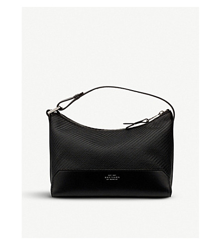 SMYTHSON Greenwich lacquered cotton washbag Black Fashionable Buy Cheap 100% Authentic Quality Free Shipping Low Price Cheap Low Shipping Fee 2018 Cheap Online nVjPE