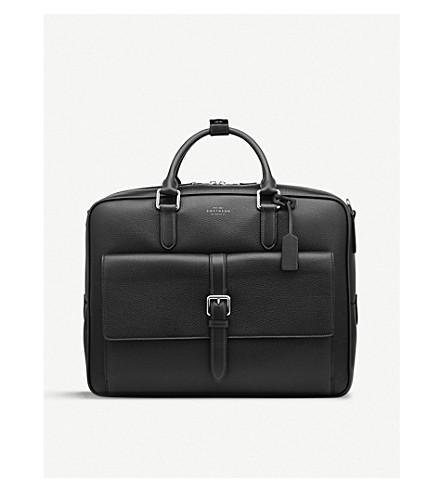 SMYTHSON Burlington large leather briefcase (Black