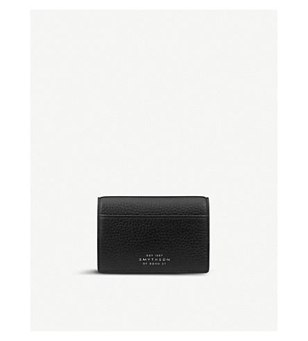 SMYTHSON Burlington leather card case (Black